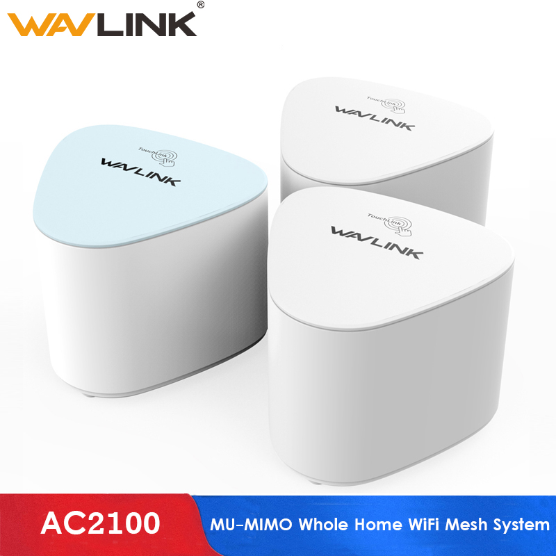 Wavlink AC2100 MU-MIMO Wireless Wifi Router Whole Home WiFi Mesh System With Touchlink Gigabit Wifi Repeater Dual-band 2.4G&5Ghz