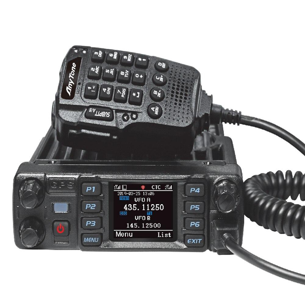 Anytone AT-D578UV DMR And Analog Radio 50W Dual Band 136-174&400-470mhz Walkie Talkie GPS APRS Bluetooth DMR Car Radio