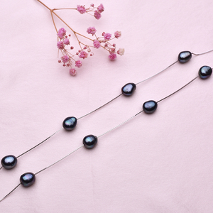 Image 5 - Fashion Design 925 Sterling Silver Chain with Natural Freshwater Pearl Necklace Womens Gift Beads Necklace Pearl Jewelry FEIGE