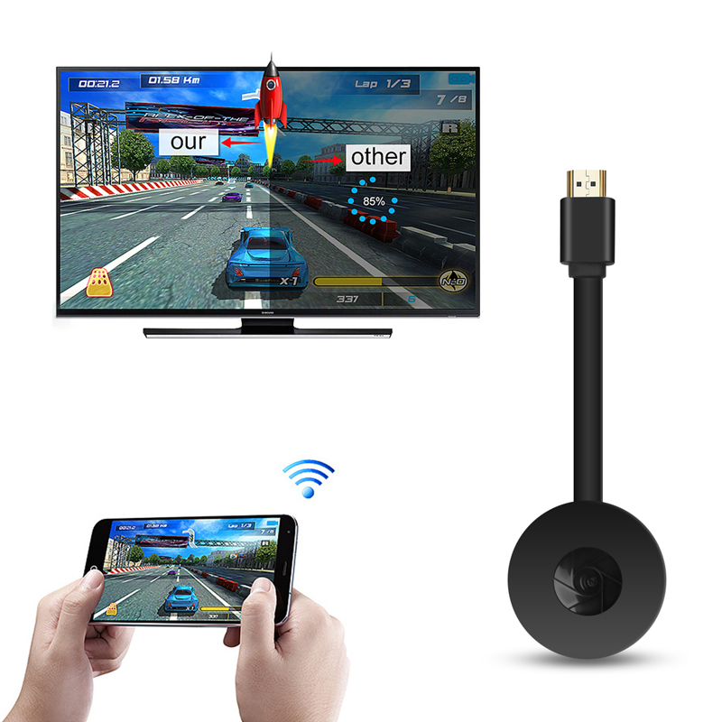 Hot G2 Wireless HDMI-compatible Dongle Wifi Display Receiver 1080P HD TV Stick For Airplay Media Streamer Media For Ios Android - ANKUX Tech Co., Ltd