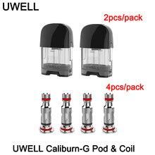 Original uwell caliburn g vazio pod cartucho 2ml capacidade 0.8ohm cabeça da bobina e cigarro para caliburn g/koko vape vape pod prime kit