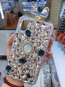 Diamond Crystal Gem Perfume Bottle Ring Holders Stands Handbag Case Cover for iPhone 11 12 X XS MAX XR 5S 6 7 7PLUS 8 8PLUS Case