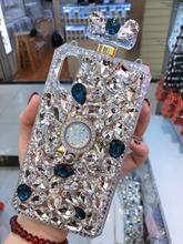 เพชรคริสตัลอัญมณีน้ำหอมขวดผู้ถือแหวนยืนกระเป๋าถือสำหรับiPhone 11 12 X XS MAX XR 5 6 S 7 7PLUS 8 8PLUS Case
