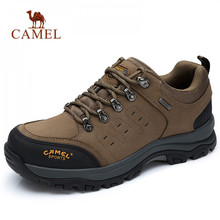 CAMEL Men Women Hiking Shoes Cow Leather Upper 2019 Autumn Durable Anti Slip Warm Outdoor Mountain Climbing Trekking Shoes