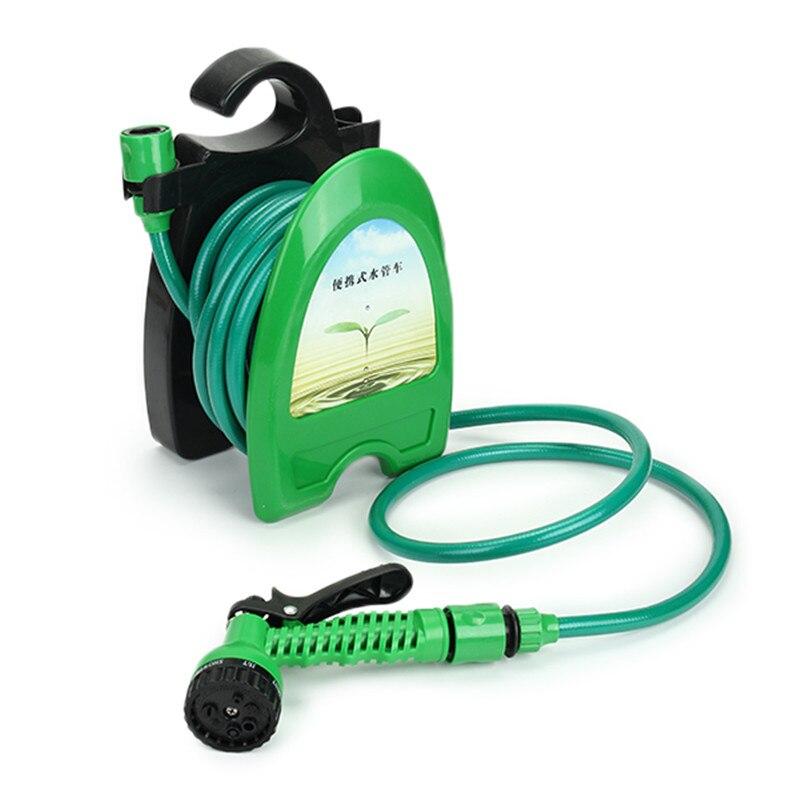10M 32FT Tragbare Mini Wasser Schlauch Reel Garten Bewässerung Auto Waschen Schlauch Rohr Lagerung Halter Kit