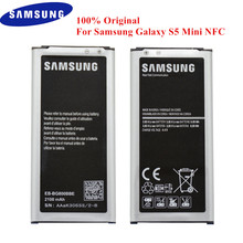 EB BG800BBE de batería Original para Samsung Galaxy S5 Mini SM G800, G800F, G800A, G800H, G800M, G800R4, G800Y, G800R, 2100mAh, con NFC
