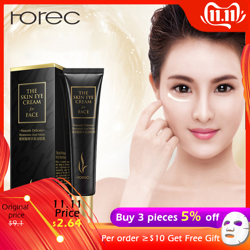 ROREC Hyaluronic Acid Eye Cream Anti-Aging Anti-Wrinkle Eye Serum Against Puffiness And Bags Remover Dark Circles Skin Care 20g