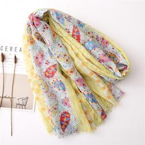 Image 3 - Écharpe longue avec imprimé mexicain, de styliste ethnique, écharpe musulmane, écharpe dhiver, commandes étrangères