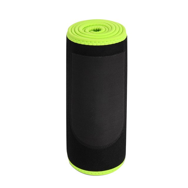 Women Men Exercise Belt Sweat Wrap With Pocket Abdominal Trainer Flexible Black Workout Protective Supporting Waist Trimmer