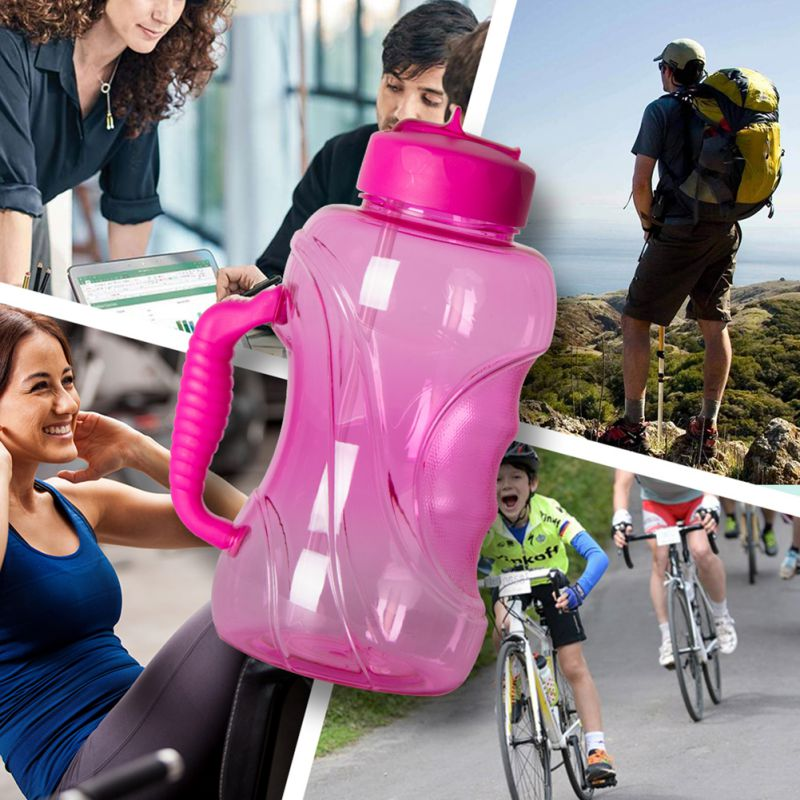 Camping Water Bottle Running Gym Exercise Large Capacity Reusable Hiking Travel Drinking Cup Mug Unisex Fitness Drinkware Bottle in Sports Bottles from Sports Entertainment