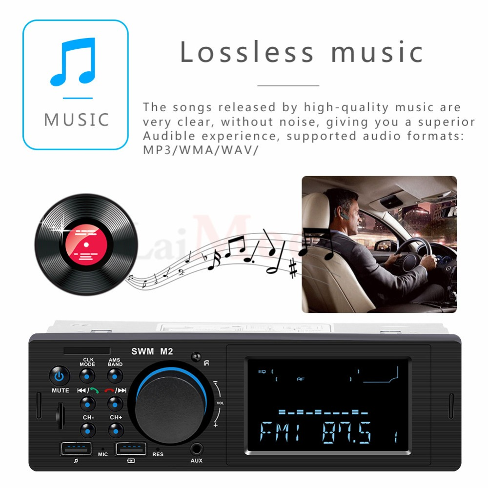 Bluetooth FM AUX Mp3 Bluetooth Car Radio Stereo Receiver 1 Din Auto Cars Audio Modulator Central Multimedia Cassette player (33)