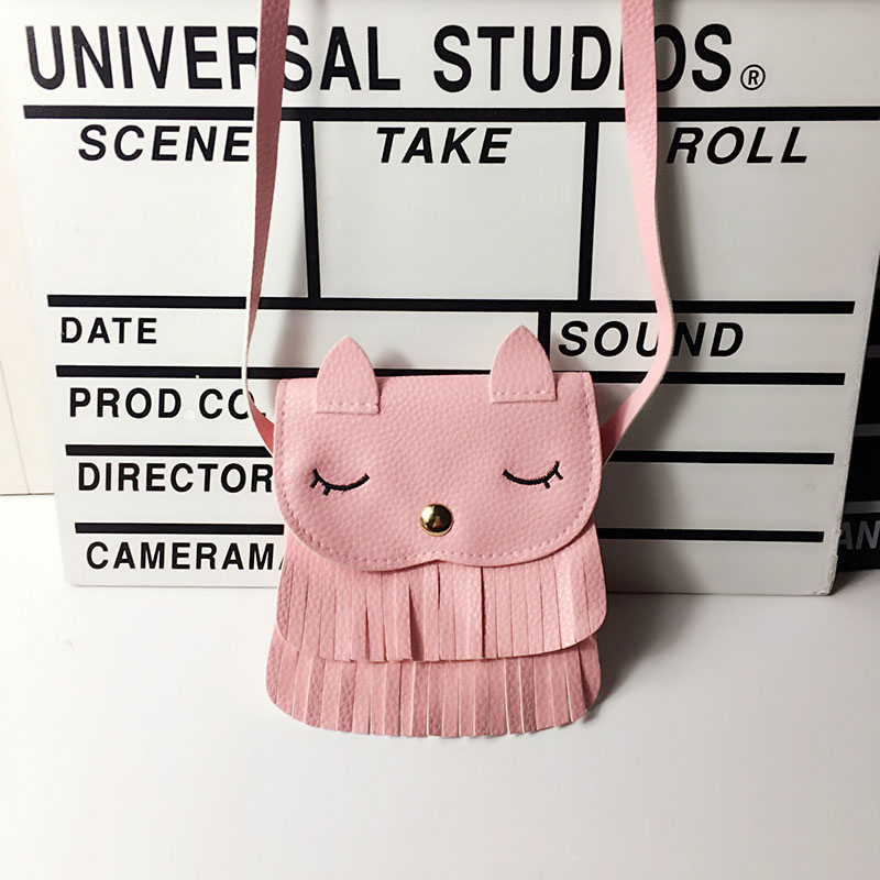 Girls Princess Cartoon Bunny PU Messenger Bags Tassel Wallet Baby Girl Cute Crossbody Bags Mini Shoulder Bags For Children