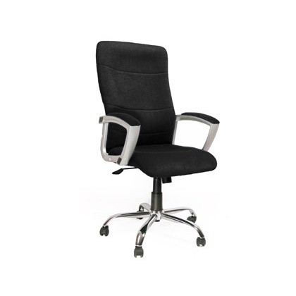 CHAIR DE Street Address Q-CONNECT HIGH BACK ADJUSTABLE HEIGHT 1160 + 100MM WIDTH 500MM AND PROF 500MM BLACK