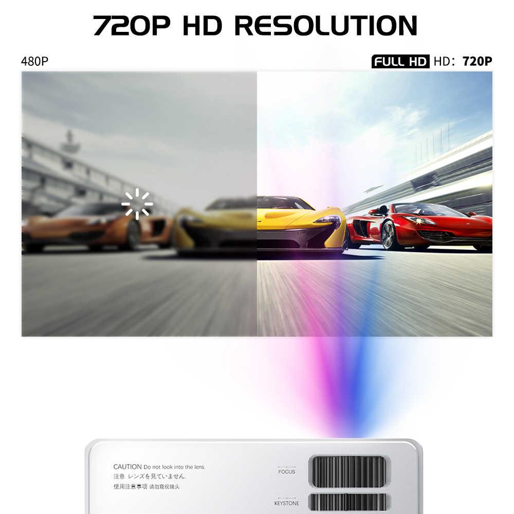 Unic-Proyector Cp600, 720p, LED, full HD, 4K, 8000 lúmenes, cine portátil, Proyector, accesorios para manicura con wi-fi, Hdmi