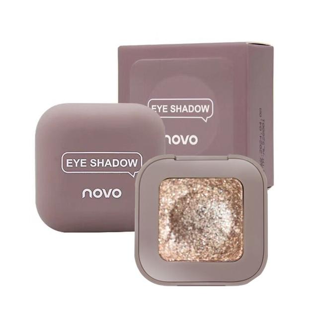 Novo Shimmer Glitter Eye Shadow Palette Polarize Shine Makeup Single Eyeshadow Sparkling Duochrome Pigment Powder Cosmetics 5