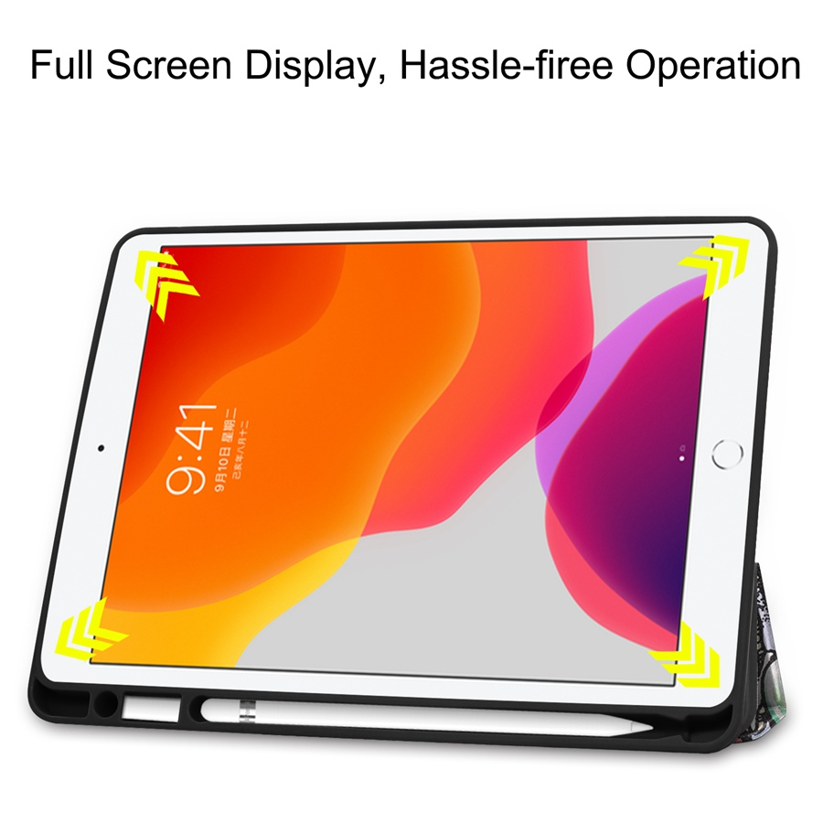 Slim Smart PU Leather Case For Apple iPad 10 2 2019 with Pencil Holder Cover For