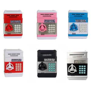 Deposit-Machine Money-Box Coins Piggy-Bank Safe Cash-Saving Digital Electronic Birthday