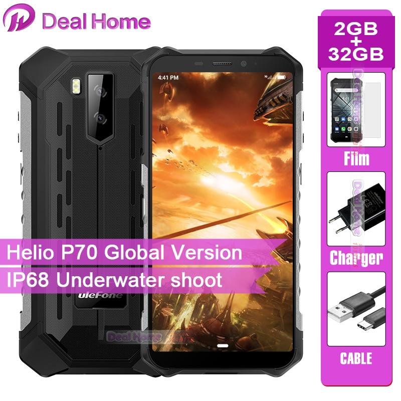 Фото. Ulefone Armor X3 прочный IP68 Смартфон Android 9,0 5,5 дюйм экран 2 Гб 32 Гб 5000 мАч 3g прочны