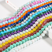 Glass Beads Jewelry-Making Wholesale Charms Earrings Necklace Diy Bracelet Round Loose