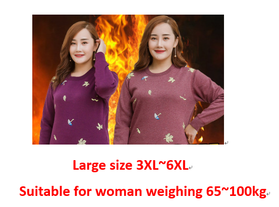 Autumn And Winter New Women's Plus Size Plus Velvet Thick Double Layer Thermal Underwear Set