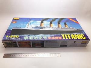 Image 2 - 1:550 RMS تايتانك نموذج بناء مجموعات التجمع نموذج باخرة بلاستيكية مع محرك كهربائي جهاز الإضاءة الكهربائية لعبة تايتانك