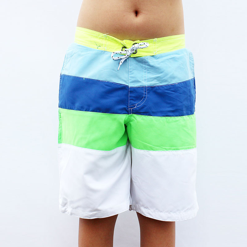 Pele de Pêssego Elástico na Cintura Novos Meninos Verão Praia Shorts Banho Adolescentes Crianças Imprimir Cintura Alta Solta Beach Wear Maiô