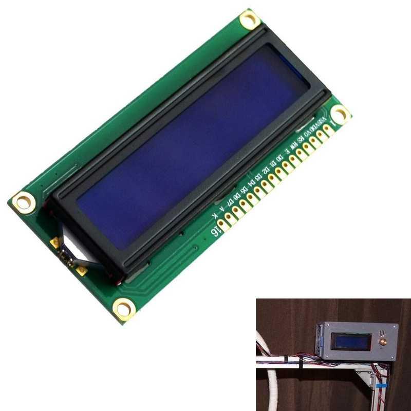 Yeni DC 5V HD44780 1602 lcd ekran modülü 16x2 karakter LCM mavi aydınlatmalı