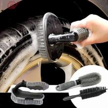 Brosse de nettoyage pour intérieur de voiture, pour revêtement de sol, moquette, pour détails de rembourrage, pour lextérieur, à manche court, pour roues et pneus