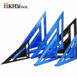 Angle Ruler 7/12 inch Metric Aluminum Alloy Triangle Measuring Ruler Woodwork Speed Square Angle Protractor Ruler Measuring Tool