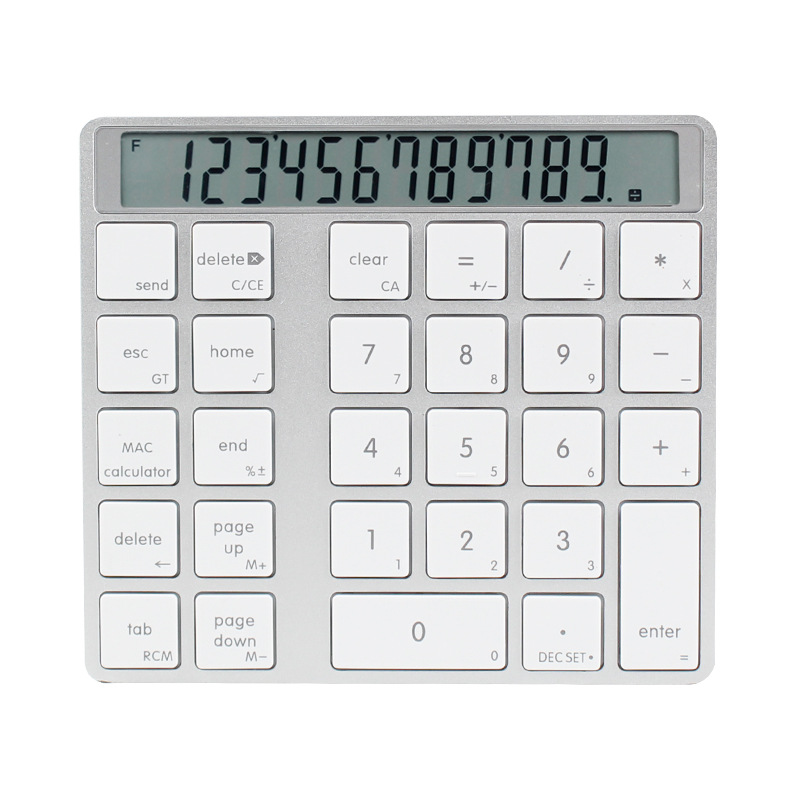 bluetooth 2 em 1 numerico teclado calculadora display interruptor de carga calculadora portatil mini computador
