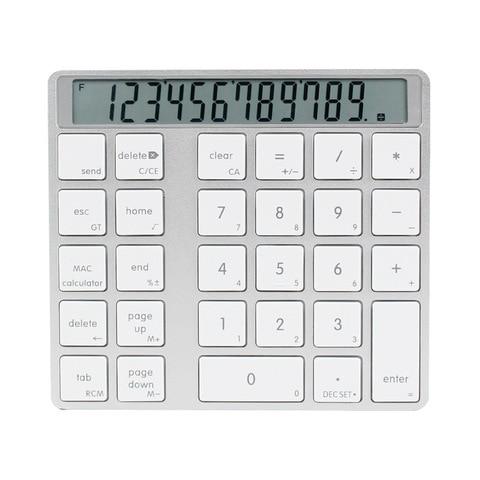 bluetooth 2 em 1 numerico teclado calculadora display interruptor de carga calculadora portatil mini