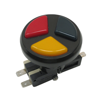 Arcade Triple Color 3 in 1 Push Button with micro-switches for arcade game machines arcade angular 12v illuminated led push button with micro switch for mame jamma mulitarcade machines