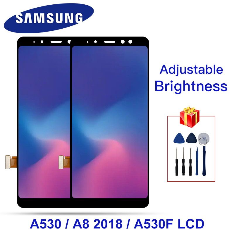 For Samsung Galaxy A8 2018 LCD A530 Touch <font><b>Screen</b></font> Digitizer Assembly For Samsung <font><b>A530F</b></font> A530N With Frame <font><b>Screen</b></font> <font><b>Replacement</b></font> Parts image