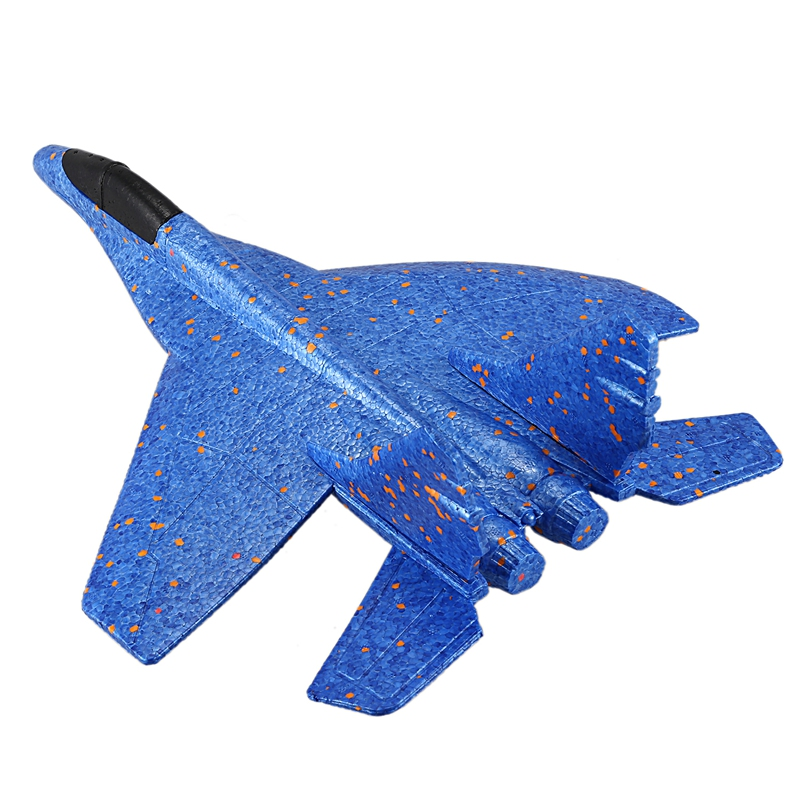 Diy Kids Toys Hand Throwing Model Airplane Foam Aircraft Stunt Luminous Education Epp Glider Fighter Planes Toys For Children image