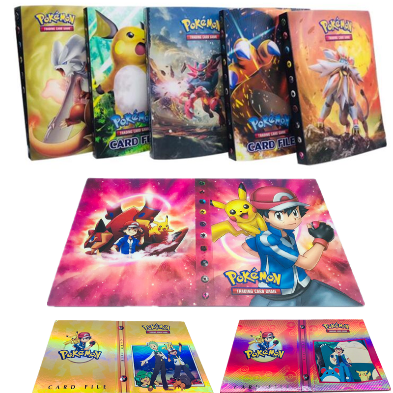 Collection Pokemon Cards Album Book Cartoon Anime Pocket Monster Pikachu 240 Pcs Holder Album Toy For Kids Gift