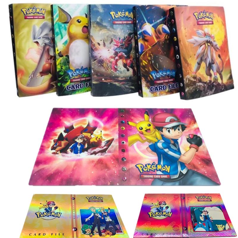 Collection Pokemon Cards Album Book Cartoon Anime Pocket Monster Pikachu 240 Pcs Holder Album Toy For Kids Gift
