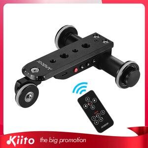 Andoer алюминиевый сплав моторизованная видеокамера Долли трек слайдер + держатель телефона для GoPro Hero 7/6/5 Canon Nikon Sony DSLR камеры