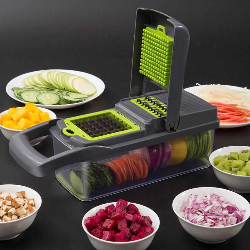 Herramienta para frutas y verduras trituradora de patatas trituradora de mandolina de verduras cortadora peladora Ralladora de zanahoria multifuncional