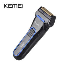 Kemei Electric Razor for Men Cordless Rechargeable Trimmer Wet and Dry Use Rechargeable Shaver Reciprocating Double Groomer цена