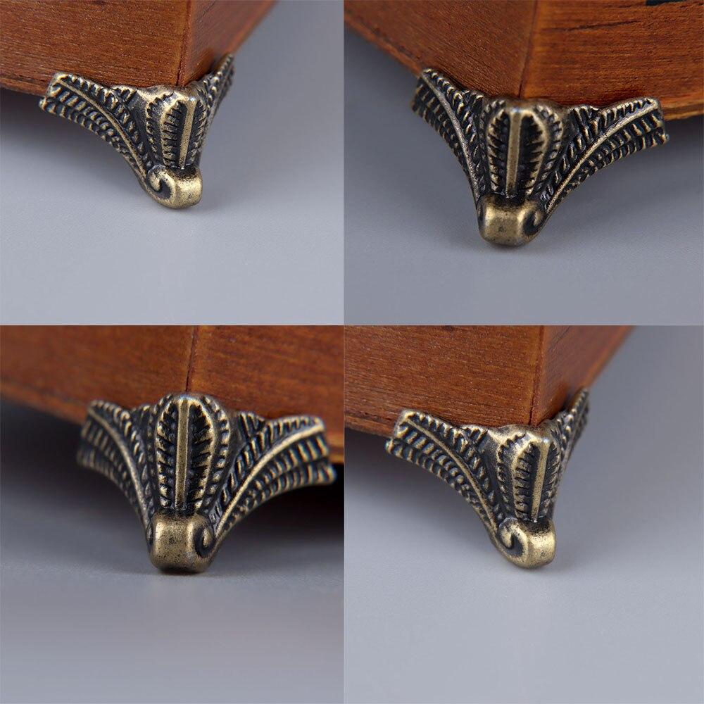 12pcs Furniture Hardware Feet Leg Angle Zinc Alloy Home Decoration Antique Wood Box Leg Angle Protector