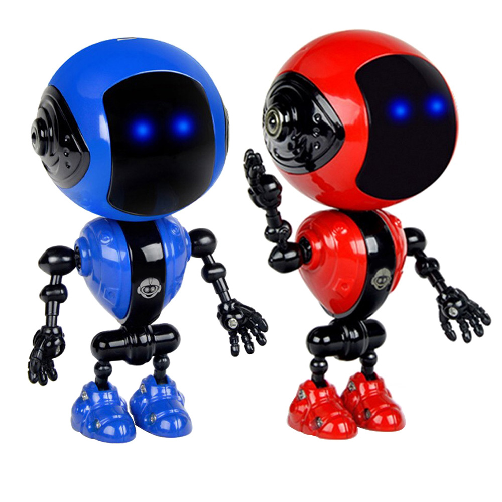 Rechargeable Robot Toy Touch Sensor LED Music Smart Mini Alloy Robot With Movable Joints USB Charging Children Toy Gifts