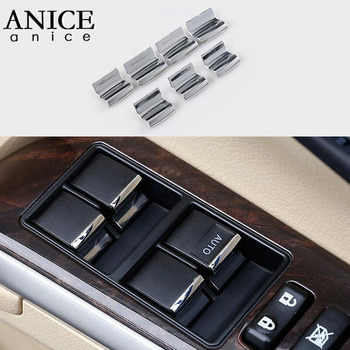 7pcs Window Lift Button Sequins Trim Fit for Toyota Prado Corolla RAV4 Highlander Auris Camry Sienna 4runner Tundra Sequoia image