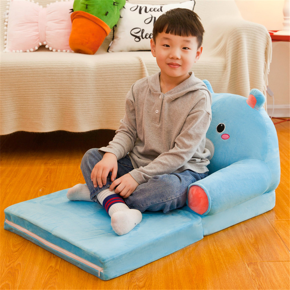 Children Sofa Cartoon Sofa Cover Foldable Lazy Person Lying Seat Baby Stool Can Be Disassembled Washed Lazy Sofa Bed Baby Chair