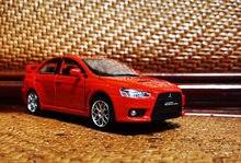 Alta simulação 1:32 liga lancer evolução modelo de carro, puxar para trás som e luz carro esporte brinquedo, frete grátis