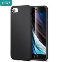 ESR حافظة لهاتف 2020 iPhone SE 2nd 9 8 7/11 Pro Max/X XS XR XS Max سائل من السيليكون والمطاط الناعم من الألياف الدقيقة