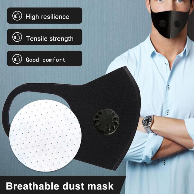 Reusable Anti-flu Dust Allergy Mask Breathable Durable PM2.5 Single And Double Air Valve Eficient Filtration Of Dust Bacteria 5