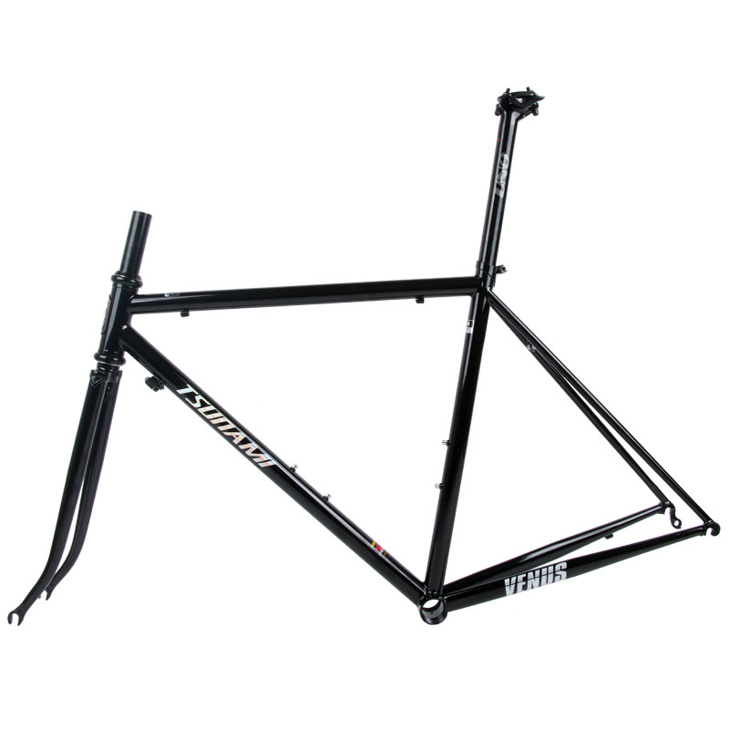 Sale TSUNAMI 520 chrome-molybdenum steel Bicycle Frame Road Bike Frame + full carbon front Fork or steel Fork 0