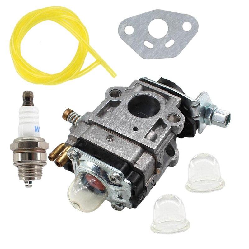 Carburetor Fuel Line Primer Bulbs Kit 10mm For Weedeater 1E34F 1E36F TU26 TL26 Brush Cutter 26cc 33cc