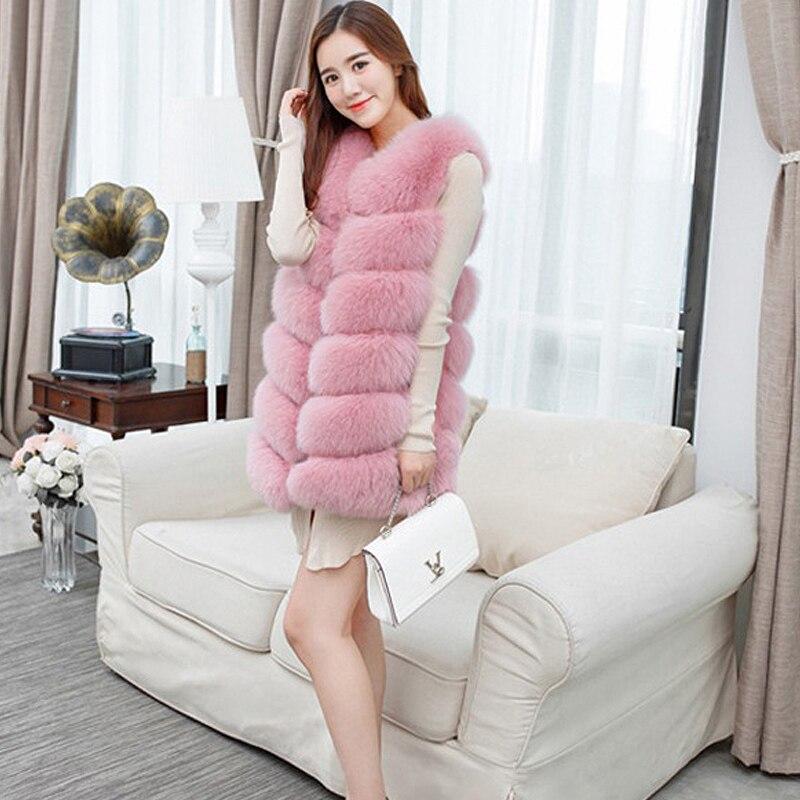Women Faux Fur Vest Coat  Winter Jacket Sleeveless Manteau Femme Hiver
