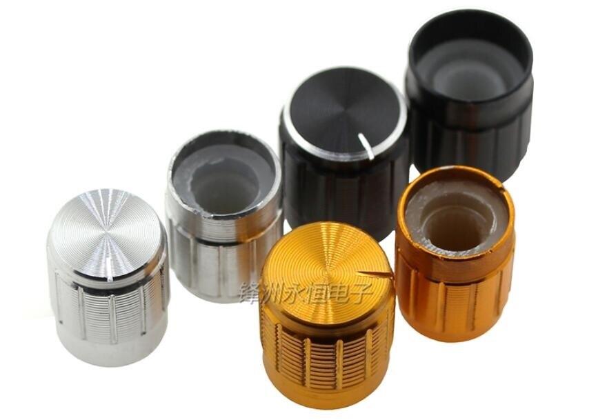 5PCS 13*17 15*17mm Aluminum Alloy Potentiometer Cap Plum Blossom Volume Adjustment Hat Knobs For Potentiometer